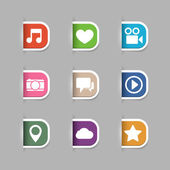 Collection of social media pictograms — Stock Vector