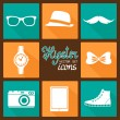 Hipster accessories pictograms set — Stock Vector #39568537