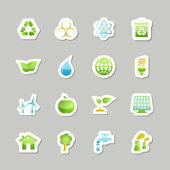 Eco green icons set — Stock Vector