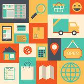 Design elements for online supermarket — Stock Vector