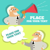 Boss speech bubble with place for text — Stock Vector