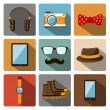 Hipster accessories pictograms set — Stock Vector #40005619