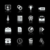 Business office supplies pictograms set — Stock Vector