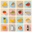 Supermarket foods icons set — Stock Vector #40475007