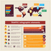 Transport traffic infographics elements — Stock Vector