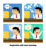 Inspiration will come — Stock Vector