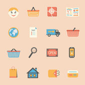 Internet shopping icons set — Stock Vector