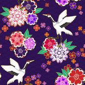 Decorative kimono pattern — Stock Vector