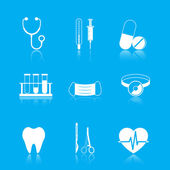 Health care tools icons set — Stok Vektör