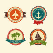 Vacations travel badges collection — Stock Vector