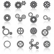 Stock Vector: Cogs Wheels and Gears Icons Set