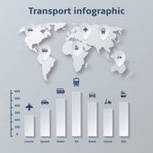 Transport Paper Infographics Elements — Stock Vector