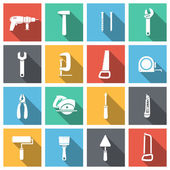 Tools Flat Icons Set — Stock Vector