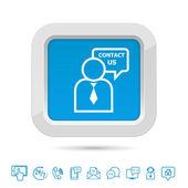 Contact us button template — Stock Vector