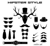 Hipster accessory pictograms collection — Stock Vector