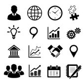 Business icons set for infographics — Stock Vector