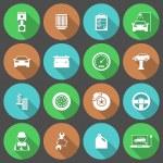 Car Auto Service Icons Set — Stock Vector