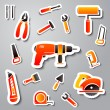 Collection of tool stickers — Stock Vector