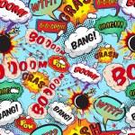 Seamless pattern comic speech bubbles — Stock Vector #41878165