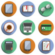 Stock Vector: Business Set Workplace Icons