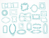 Collection of hand drawn doodle frames — Stock Vector