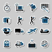 Transportation Services Stickers Collection — Stock Vector
