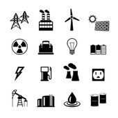 Energy power pictograms collection — Stock Vector