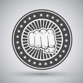 Clenched fist icon — Stock Vector