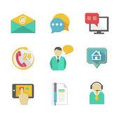 Customer Helpdesk Contacts Design Elements — Stock Vector