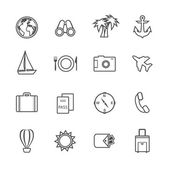 Vacation leisure pictograms set — Stok Vektör