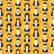 Постер, плакат: Seamless avatar characters pattern background
