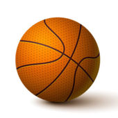Realistische basketball ball symbol — Stockvektor