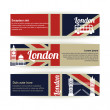 Collection of banners and ribbons with London landmarks — Stock Vector #41896631