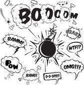 Comic speech bubbles design elements collection — Stock Vector