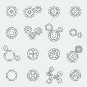 Cogs wheels and gears pictograms — Stock Vector