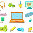 Stock Vector: Business Computer Icons Set