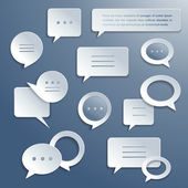 Abstract paper speech bubbles set — Stock Vector