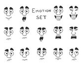 Facial Avatar Emotions Icons Set — Stock Vector