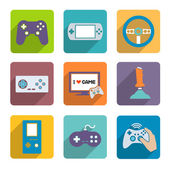Video Games Controller Icons Set — Vector de stock