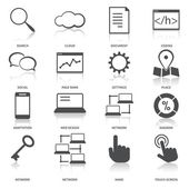 Search Engine Optimization Icons Set — Stock Vector