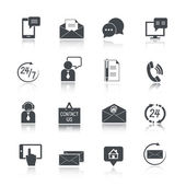 Contact Us Service Icons Set — Stock Vector