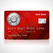 Realistic credit card template with code lock — Stock Vector