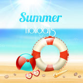 Summer holiday vacation travel background — Stock Vector