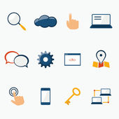 Internet marketing services icons set — Stock Vector