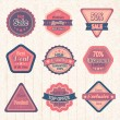 Vintage sale labels and badges set — Stock Vector