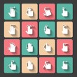 Hand touch gestures icons set — Stock Vector #42741983