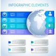 Abstract paper business infographics elements — Vecteur