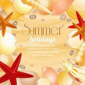 Summer holiday vacation travel poster — Stock Vector