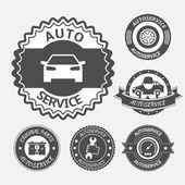 Car auto service set — Stock Vector