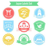 Made in Japan labels set — Stock Vector